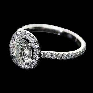 2.25 ct. diamonds halo setting ring wedding jewelr